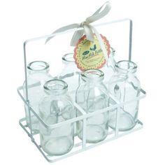 Nostalgisches Milchflaschen Set von Rex