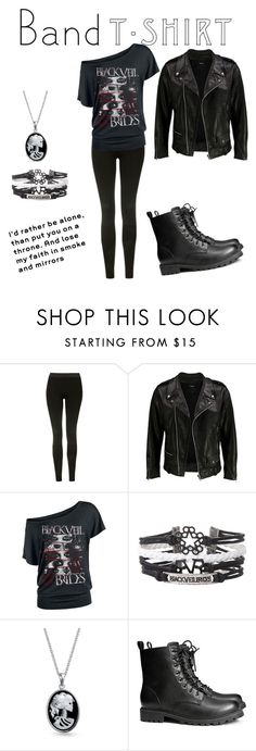 """""""Band T-shirt : Black Veil Brides"""" by melaniestorm ❤ liked on Polyvore featuring Topshop, VIPARO, Bling Jewelry, H&M, black, BVB, bandtshirt and bandtee"""