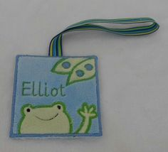 Embroidered Frog Minky Diaper bag by BunnyTcupEmbroidery on Etsy, $10.50