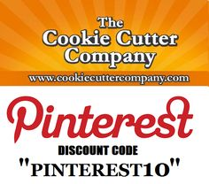 """""""PINTEREST10""""   Follow us on Pinterest to use this #coupon #code to receive 10% off your #cookiecutters now through February 10th 2013 ONLY!! Discount Codes, Sugar Art, Decorated Cookies, Cookie Decorating, Cookie Cutters, Free Food, February, Coupon, Cupcakes"""