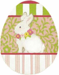 Melissa Shirley Designs | Hand Painted Needlepoint | Bunny Animal Egg