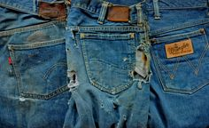 greatest denim trinity: 1940s Levi's 501, 1950s Lee 101Z, 1950s Wrangler 11MWZ