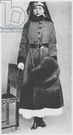 The Arrest of Mata Hari on 13th February 1917 (b/w photo). Margaretha Geertruida Macleod (1876-1917) born Zelle; shot by French firing squad; accused of spying for Germany during World War I. Photograph taken by the Identite Judiciaire department of the Police Headquarters.