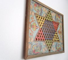1920's Star Checkers Board. Early Chinese Checkers. Primitive Art Deco/Nouveau Piece by owlsongvintage on Etsy, $47.50