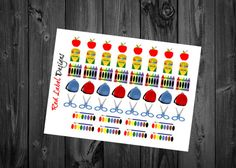 48 School Supplies stickers for every by RedLabelDesigns on Etsy