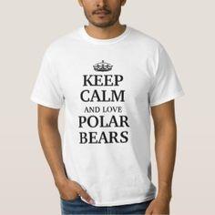 Keep Calm And Love Polar Bears – Stimulating Polar Bear Tee Shirt White