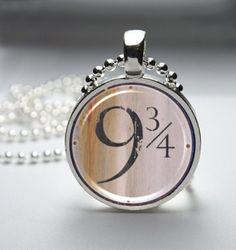 Harry Potter Glass Pendant Necklace by TacticalDetroit on Etsy, $8.00