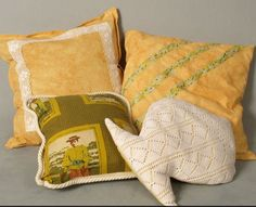 Yellow pillow =) , recykled fabric!