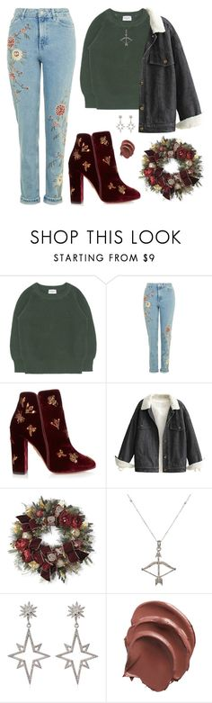 """Seungkwan X Christmas House Decorating"" by jleeoutfitters ❤ liked on Polyvore featuring Aquazzura, Frontgate, Feathered Soul and Apples & Figs"