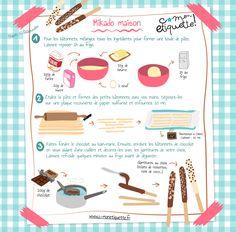 Homemade Pocky Sticks Recipe for Kids - Food Recipes 😋 Kids Cooking Recipes, Cooking With Kids, Fun Cooking, Kids Meals, Easy Desserts, Dessert Recipes, Drink Recipes, Drink Recipe Book, Vegetable Drinks