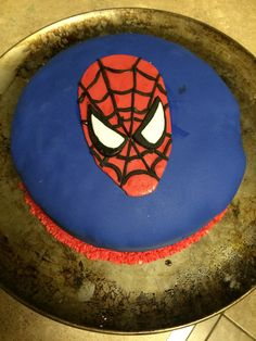 Double chocolate Spider-Man cake