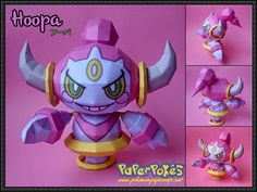 Pokemon - Confined Form Hoopa Free Papercraft Download - http://www.papercraftsquare.com/pokemon-confined-form-hoopa-free-papercraft.html