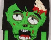 Zombie Felt IPad/Hip Bag/Purse Backpack made from Recycled Water Bottles