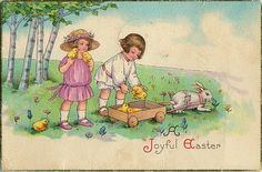 Vintage Easter greeting cards - free download