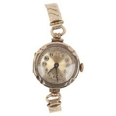 VINTAGE 1930s Gold 375 English LADIES WRIST WATCH