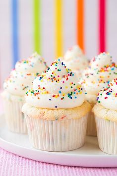 Funfetti Angel Food Cupcakes   Cooking Classy