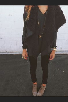 Coat: jacket black noir veste weheartit black blackjacket drape cute tumblr cosy cosy & classy fancy
