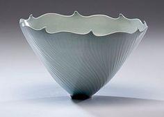 ELSA RADY WHITE CARVED BOWL   (1943-2011, USA) ca 1979 Porcelain; ht. 6, dia. 10.5 in