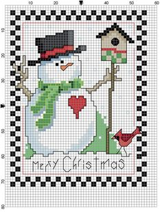 Christmas Tea Towel Counted Cross Stitch Pattern on Etsy, $1.00 by Mudgey