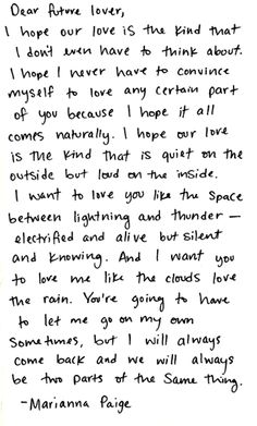 "This is awesome! ""i want to love you like the space between lightning and thunder - electrified and alive but silent and knowing."""