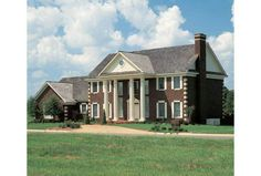 Traditional Red Brick Colonial Style Mansion