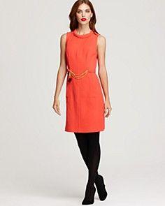 color dress + black tights