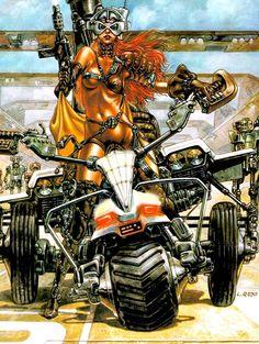 "brokensword: ""…sci-fi art by Luis Royo "" Fantasy Art Women, Fantasy World, Amazons Women Warriors, Sci Fi Comics, Luis Royo, Pop Culture Art, Graffiti Styles, Warrior Girl, Cosplay"