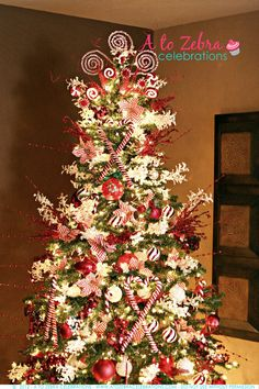 candy cane christmas trees | to show off your beautiful Christmas tree this year? I have a tree ...