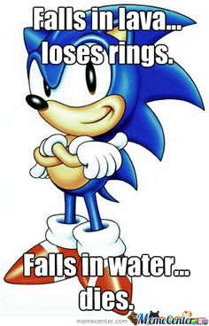 Sonic the Hedgehog - What what? I had all the sonic games! Video Game Logic, Video Game Characters, Video Game Art, Cartoon Characters, Video Games, Hedgehog Meme, Sonic The Hedgehog, Hedgehog Art, Pac Man