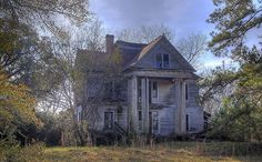 """McRainey House"" -- [This beautiful (back in its prime) home belonged to ""Malcolm Archibald McRainey & his wife Alice Huldah Galloway."" Located on the south side of GA 37 in *Elmodel, Baker County, Georgia.* It has been passed down through the generations & now it belongs to the Aunt- who forbids anyone to go near it! Be Warned!]~[Photograph by David in SWGA (David McCoy) - December 7 2012 - Elmodel, Georgia US]'h4d-131.2013'"