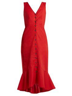 Zoey stretch-cotton dress | Saloni