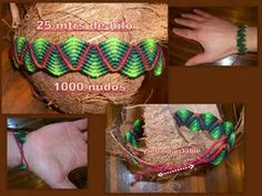 tejido artesanal: PULSERAS MACRAME