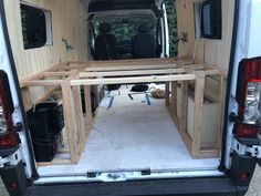 If you're converting youre van to a campervan, heres a detailed step by step guide on how to build a van conversion bed frame for your camper. Van Conversion Bed Frame, Van Conversion Interior, Camper Van Conversion Diy, Build Bed Frame, Diy Bed Frame, Van Insulation, Diy Van Conversions, Rent A Campervan, Van Bed