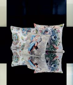 Angelic pillows from Jean Paul Gaultier are simply heavenly! www.kenisahome.com