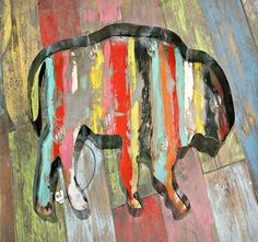 Lighted Rustic Handmade Buffalo  www.gugonline.com