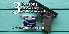 3 Reasons Why We Carry On The Homestead | An American Homestead - Living Off Grid in the Ozark Mountains