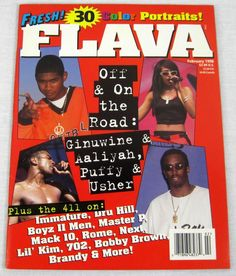 Flava Hip Hop Music Magazine February 1998 Aaliyah Puffy Bobby Tupac Janet New
