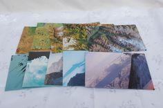 Envelopes from recycled world Atlas set of ten £4.00