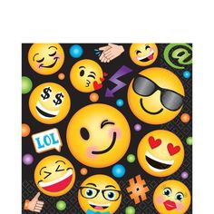 Smiley Lunch Napkins 16ct