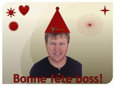 Demain sera l'anniversaire de notre découpé patron! Bonne fête!