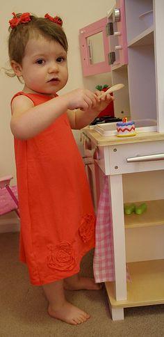 Transform a t-shirt into a terrific child's dress.