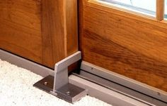 Nightlock Patio is a heavy duty security lock designed to block a forced entry through a sliding patio door wall. The floor mounted Nightlock Patio acts as a door brace and barricade when standard sliding Door Security Devices, Security Door, Security Alarm, Sliding Patio Doors, Sliding Glass Door, Glass Doors, Home Security Tips, Home Security Systems, Security Solutions