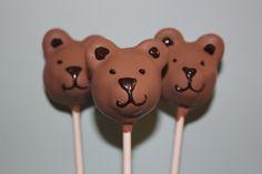 Teddy Bear Cake Pops cakepins.com