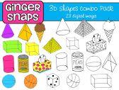 3D Shapes Digital Art Combo Pack
