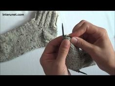 How to knit socks - video tutorial- There is no sound but still good demonstration.