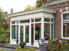 serre-hengelo-4 Garden Room Extensions, House Extensions, House Extension Design, House Design, Modern Glass House, Self Build Houses, Outdoor Living Rooms, Old Mansions, Bay Window