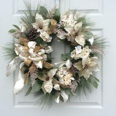Christmas Wreath-Holiday Wreath-Designer от ReginasGarden на Etsy
