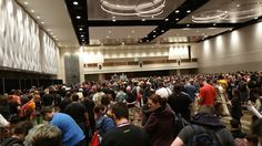The queuing area for the Billy Dee Williams panel on Thursday at Star Wars Celebration 2017 Orlando - https://file.army/i/Ynlop3