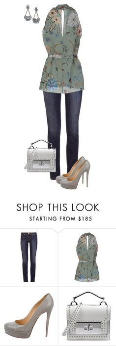 """""""Untitled #776"""" by angela-vitello on Polyvore featuring Tory Burch, Gucci, Christian Louboutin, Marc Jacobs and LULUS"""