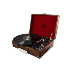 GPO Attache LP Player Record 33, 45, 78rpm Leatherette finish available  red, brown, blue, black